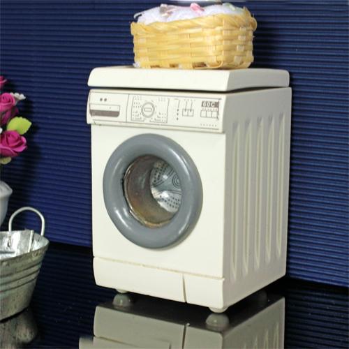 venda quente mini 1/12 casa de boneca de madeira branca tipo tambor máquina de lavar móveis casa de bonecas em miniatura frete grátis(China (Mainland))