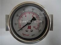 Free Shipping Y-40ZV Pressure Gauge Meter Manometer with bracket U-clamp 0-10kg/cm2 (0-140PSI)