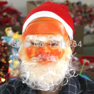 Santa Claus Mask For Christmas Festival Party Supplies Sale As Set For Santa Claus Mask + Santa Claus Beard + Santa Claus Hat(China (Mainland))