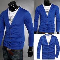 Cardigan Casual dress 2014 new Sport Men clothes Fashion Long sleeve Male Autumn Spring Winter Plus size XXL danz038