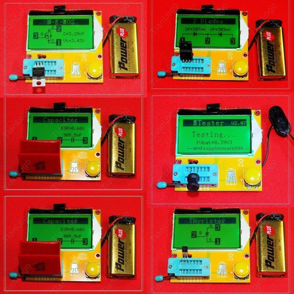 Mega328 Transistor Tester Diode Triode Capacitance Capacitor ESR Meter MOS PNP/NPN L/C/R Mosfet test Meter led(China (Mainland))