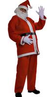 Free Shipping Santa uniformed men Christmas party Costume Kits nightclub Christmas Clothings(Gloves+Hat+belt+pants)141001#12