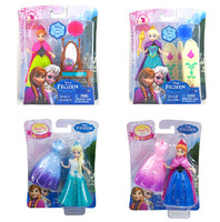 Latest  Frozen dolls100 Genuine Original Frozen princess Anna&Elsa,Mini frozen doll toys set,2014 baby dolls Christmas Gifts