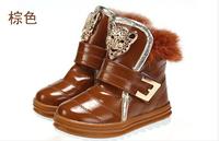Children's PU Boots Kids Boy Girls Winter PU Snow Boots Children's Warm Shoes 2014 Fashion Shoes