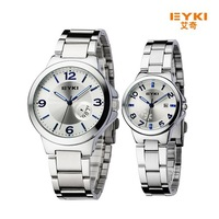 EYK Brand Fashion Lovers Business Watches, Automatic Date, High-Quality Waterproof Leather Quartz Watches / 1Pair Sale