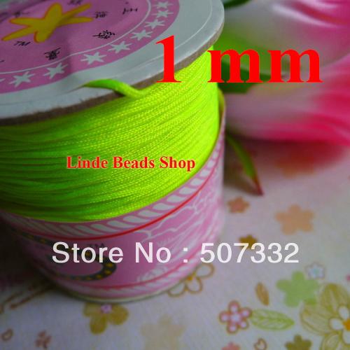free shipping 1mm thread cord shamballa rope apple green Waxed Bead Cord fit shamballa bracelet necklace string 310meter R108(China (Mainland))