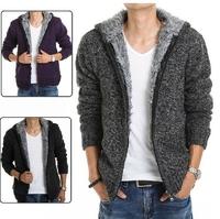 Cardigan Sweater Coat Casual dress 2014 new Sport Men clothes Fashion Long sleeve Male Keep warm Winter Plus size XXL danz040