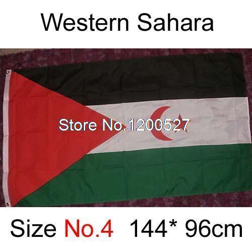 Western Sahara Occidental Flag 3ft x 5ft Polyester African Union Desert Spanish Flag Flying Size No.4 144* 96cm(China (Mainland))