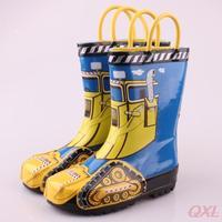 2014 New Summer Rubber Children Rain Boots For Kids Boy Tank Brand Designer Fashion Boot Kid Waterproof Boys Rainboots