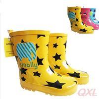 Children Rain Boots 2013 New Autumn Smally Brand Fashion Boot For Kids Girls Boys Animal Star Children's Waterproof Shoes