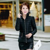 2014 Winter collar Slim Korean style women short padded coat  wholesale price