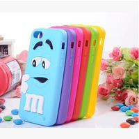 100 piece/lot Soft silicone Cute MM 3D Smiling face case for iphone 4.7 inch plus Lovely phone cover 5 5s 4 4s 5C