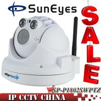 SunEyes  SP-P1802SWPTZ ONVIF Wireless PTZ Dome IP Camera 1080P Full HD with Zoom Two Way Audio Micro SD/TF Card Slot Sony Sensor