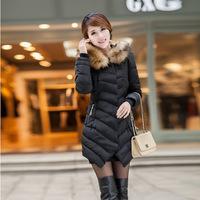 2014 new Thick padded winter Korean style  fashion  Slim fur collar Coats