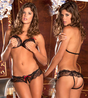 Free shipping chest a loaded three suits lace women sexy bikini sexy lingeries halloween costumes for women se03295