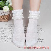 Department of Forestry vintage cotton jacquard lace Bubble female socks  wholesale 8353