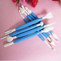 free shipping blue 8pcs /1set flower cutter fondant cake decorating Sugarcraft modelling mold tool