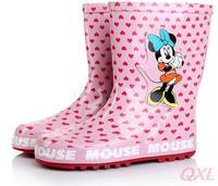 2014 New Summer Children Girl Boot Waterproof For Kid Minnie Mouse Brand Rain Boots Kids Children's Rainboots Girls Rubber Shoes