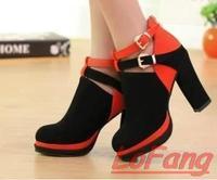 Shoes Women Brand 2014 High Heels Fashion Bridal Buckle Shoes In Women's Pumps For Ladies Autumn Dress Pump Woman Heel Footwear