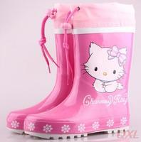 Children Rain Boots 2014 New Spring Winter Hello Kitty Brand Carton Boot For Kids Girls Child Girl Waterproof Shoes Rainboots HD