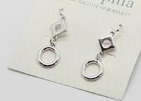 Silver Tone Dangle Earrings  ls