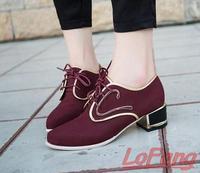 Designer Shoe Woman Shoes High Heels Women Pointed Toe Heels Brand Bombas Muheres Thick Heel Ladies Fall Pumps Lace UpFootwear