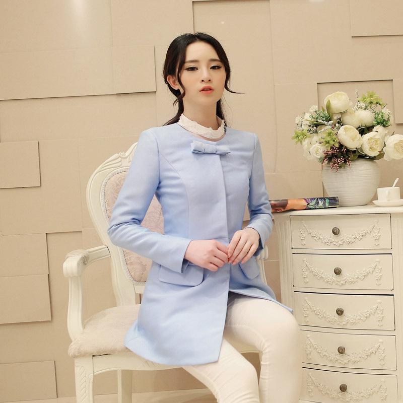 весной новой корейской версии был тонкий дамы небольшой Ветер душистый лук приток женщин малые костюм костюм женщина осень
