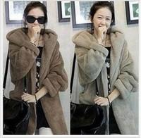 Free shipping 2014 winter women fashion clothes plush coat for wommen sholesale