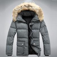 Men's Long Thick Warm Woolen White Duck Down Coat,Winter Snow Down Jacket For Men,Minus 30 Degrees,3 Colors,Size S-3XL,SD9901