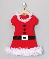 2014 Children's Clothing baby romper girls Christmas clothing girls dress baby dress kids clothes Christmas wear  5pieces/lot