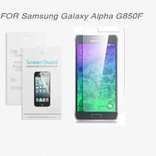 For Samsung Galaxy Alpha G850F ,New 2014 free shipping 3x CLEAR Screen Protector Film For Samsung Galaxy Alpha G850F