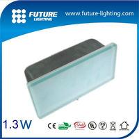 Outdoor 1.3w 200*100Mm IP67 5years warranty quare underground LED tile brick light