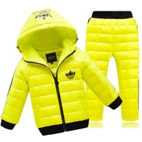 Free shipping  2014 new Children's Down suit  Boys and girls thickening Down  Warm clothing for children