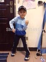2014 hot Children's sportswear suits boys long-sleeved T-shirt shorts sportswear 3T&4T retail in free shipping