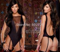 New 2014 Top Fashion Women Black Sexy Mesh Bodysuits Jumpsuits Stretch Teddy Clubwear lingerie Erotic Costume  Sleepwear 10329