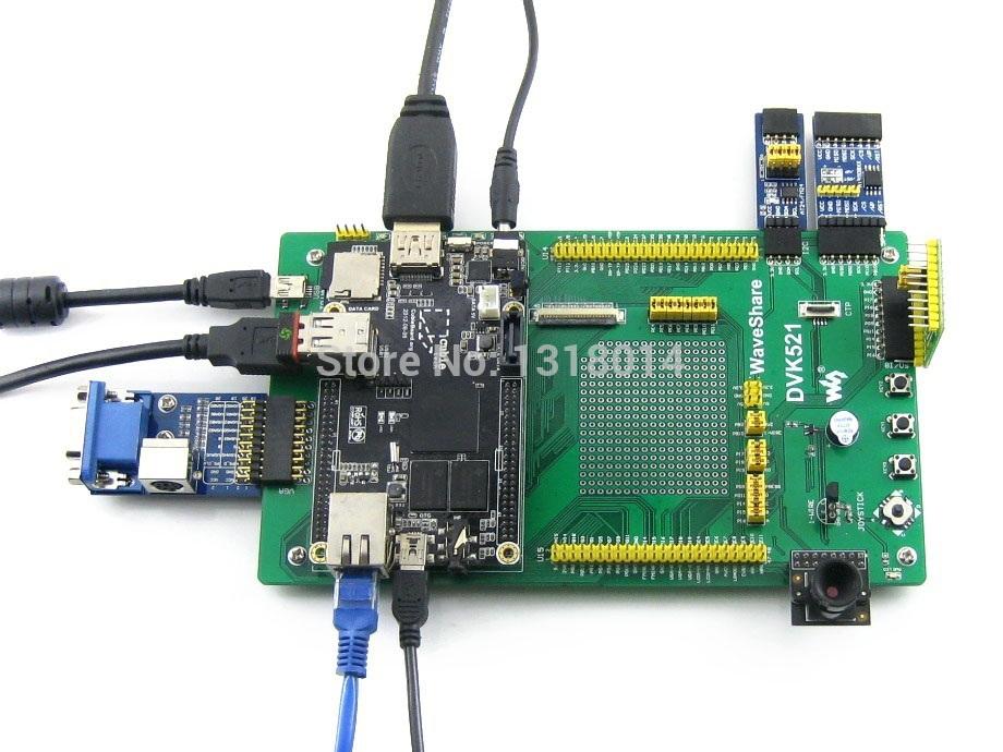 Cubieboard Package B = Cubiebord A10 1GB DDR3 RAM Cortex-A8 Mini PC + DVK521 + 7' LCD+ Camera board+ 5 kits, better than RPi(China (Mainland))
