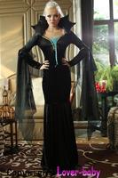 2014 new arrival sexy women's  Evil Queen Sorceress Complete Halloween costumes 1294