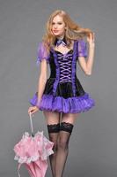 2014 new arrival sexy women's purple evil  Queen costumes halloween costumes fancy dress 15121