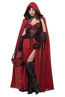 2014 new arrival sexy women's  dark red Riding Hood Halloween Costume 2 piece set  1303