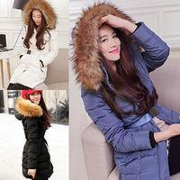 Winter Warm Thick Womens Ladies Big Fur Detachable Hooded Long Coat Jacket Parka