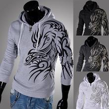 2014 boutique moda nuevo escudo sudaderas con capucha hombre / Men ' s casual sudadera con capucha impreso chaqueta con capucha / chaqueta para hombre del deporte sweatershirts envío gratis(China (Mainland))