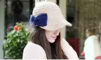 free shipping Elegant bow winter cap Women's autumn,winter  fashion wool hat,Skullies & Beanies with bowknot
