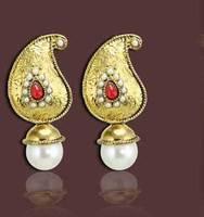 Luxury Beads Golden Drop Earrings Vintage Bohemian Handmade Indian Ethnic Jewelry for Women 1202080