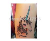 Hot Sale!!!!! New Arrival Waterproof Tattoo Sticker Unicorn tattoo Animals tattoo  (10pcs/lot),Wholesale