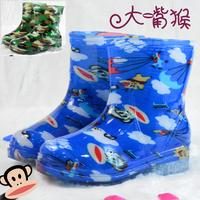 2014 kids patterned rain boots children's PVC Cristal rain shoes for babys  boys girls waterproof antislip