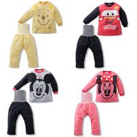 freeshipping!2014 new baby boy's girl's Autumn cartoon long sleeve t-shirt+protect belly pant 2pcs/set car cartoon sets 4set/lot