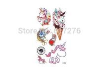 Hot Sale!!!!! New Arrival Waterproof Tattoo Sticker Unicorn tattoo temporary 3d tattoo  (10pcs/lot),Wholesale