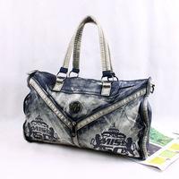 2014 new denim diamond large capacity bag handbag casual denim bag free shipping f3g5h5