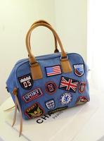 2014 new denim diamond large capacity bag handbag casual denim bag free shipping r4t5y6