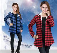2014 Winter New Fashion Large Size Women Long-Sleeved PlusThick Velvet Plaid Shirt 1626 2XL ,XXXL,3XL,XXXXL, 4XL free shipping